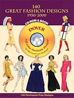 140 Great Fashion Designs, 1950-2000, CD-ROM and Book [With CDROM] (Dover Pictorial Archives)