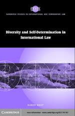 Diversity and Self-Determination in International Law (Cambridge Studies in International And Comparative Law)
