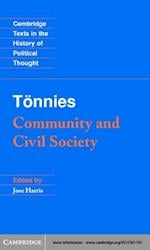 Tonnies: Community and Civil Society af Ferdinand Tonnies