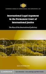 International Legal Argument in the Permanent Court of International Justice (Cambridge Studies in International And Comparative Law)
