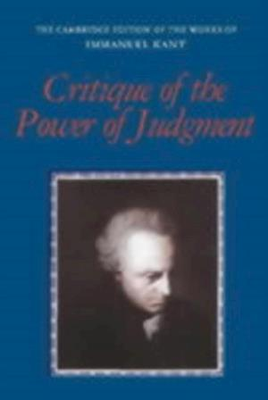 Critique of the Power of Judgment af Kant