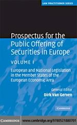 Prospectus for the Public Offering of Securities in Europe: Volume 1 (Law Practitioner Series)