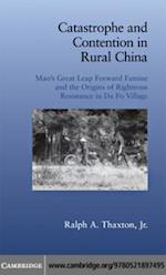 Catastrophe and Contention in Rural China (Cambridge Studies in Contentious Politics)