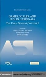 Games, Scales and Suslin Cardinals: The Cabal Seminar Volume I (Lecture Notes in Logic)