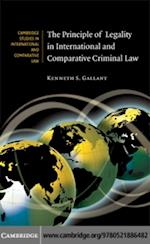 Principle of Legality in International and Comparative Criminal Law (Cambridge Studies in International And Comparative Law)