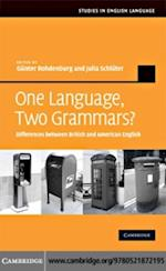 One Language, Two Grammars? (Studies in English Language)