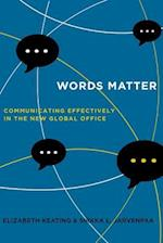 Words Matter af Elizabeth Keating