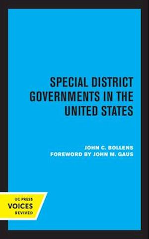 Special District Governments in the United States