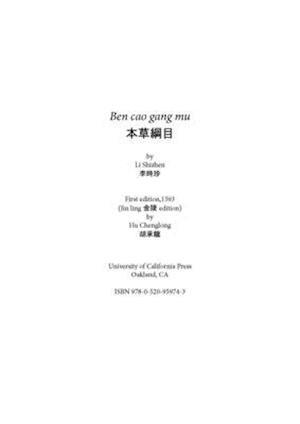 Ben Cao Gang Mu af Shizhen Li