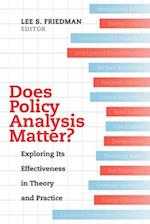 Does Policy Analysis Matter? (Wildavsky Forum Series)