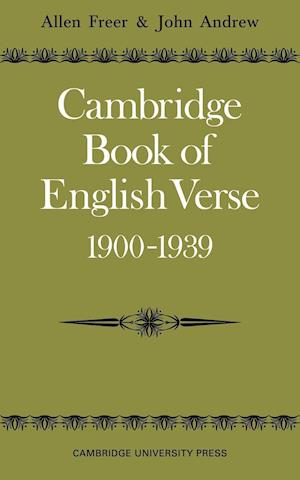 Cambridge Book of English Verse 1900 1939