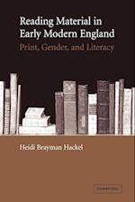 Reading Material in Early Modern England: Print, Gender, and Literacy af Heidi Brayman Hackel