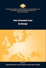 Pure Economic Loss in Europe (The Common Core of European Private Law)