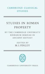 Studies in Roman Property af Peter Garnsey, R G Osborne, R L Hunter