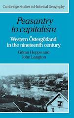 Peasantry to Capitalism af John Langton, Goran Hoppe