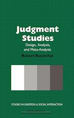 Judgment Studies af Robert Rosenthal, Keith Oatley, Antony S R Manstead