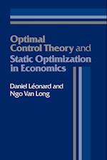 Optimal Control Theory and Static Optimization in Economics af Daniel Leonard, Ngo Van Long