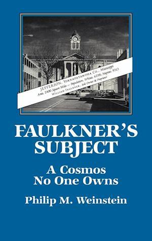 Faulkner's Subject