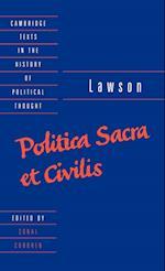 Lawson: Politica sacra et civilis af Quentin Skinner, George Lawson, Conal Condren