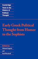 Early Greek Political Thought from Homer to the Sophists af Paul Woodruff, Michael Gagarin