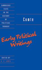 Comte: Early Political Writings af H S Jones, Auguste Comte