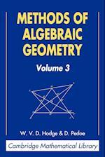 Methods of Algebraic Geometry: Volume 3 (Cambridge Mathematical Library)