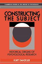 Constructing the Subject: Historical Origins of Psychological Research