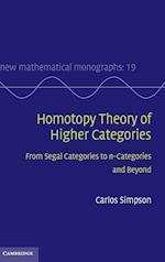 Homotopy Theory of Higher Categories (New Mathematical Monographs, nr. 19)