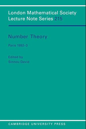 Number Theory: Paris 1992 3