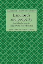 Landlords and Property af David Ley, John Allen, Linda Mcdowell