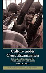 Culture under Cross-Examination (Cambridge Studies in Law and Society)