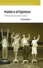 Matters of Opinion af Paul Drew, John J Gumperz, Marjorie Harness Goodwin