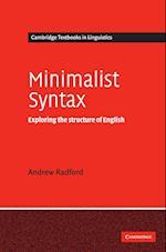 Minimalist Syntax (Cambridge Textbooks in Linguistics)