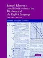 Samuel Johnson's Unpublished Revisions to the Dictionary of the English Language af Samuel Johnson, Allen Reddick