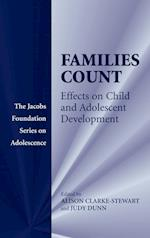 Families Count (The Jacobs Foundation Series on Adolescence)