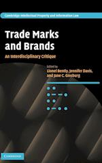 Trade Marks and Brands af Lionel Bently, Jane C Ginsburg, Jennifer Davis