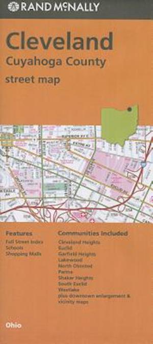 Rand McNally Cleveland/Cuyahoga County, Ohio Street Map