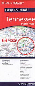 Tennessee State Map, Rand McNally Easy to Read 1:560.000
