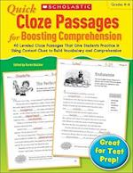 Quick Cloze Passages for Boosting Comprehension