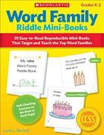 Word Family Riddle Mini-Books, Grade K-2
