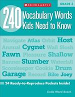 240 Vocabulary Words Kids Need to Know (240 Vocabulary Words Kids Need to Know)