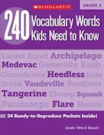 240 Vocabulary Words Kids Need to Know, Grade 5 (240 Vocabulary Words Kids Need to Know)