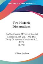 Two Historic Dissertations af William Belsham
