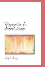 Biographie Des Joseph Lange af Joseph Lange