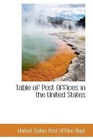 Table of Post Offices in the United States