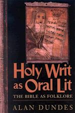 Holy Writ as Oral Lit