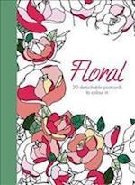 Floral: 20 detachable postcards to colour in