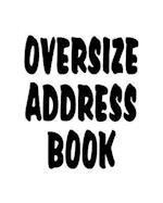 Oversize Address Book
