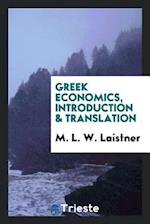 Greek Economics, Introduction & Translation af M. L. W. Laistner