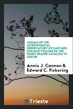 Annals of the Astronomical Observatory of Harvard College Volume 93; The Henry Draper Catalog 7h and 8h af Annie J. Cannon, Edward C. Pickering